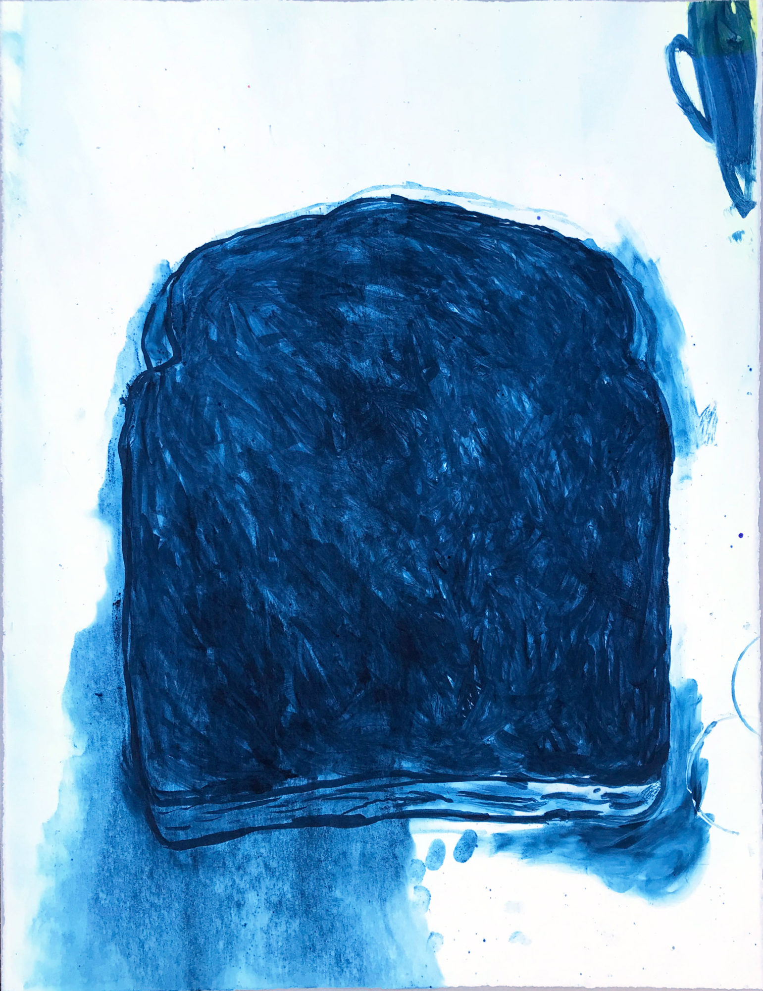 A Slice of Burnt Toast #Blue