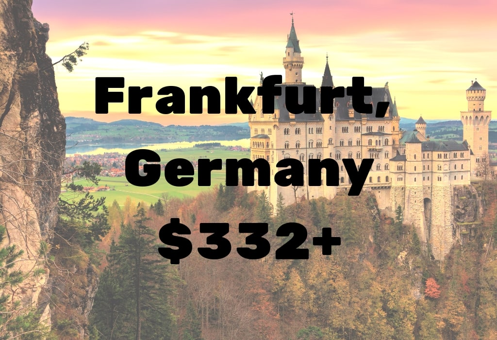 Image of deal to Frankfurt, Germany for $332