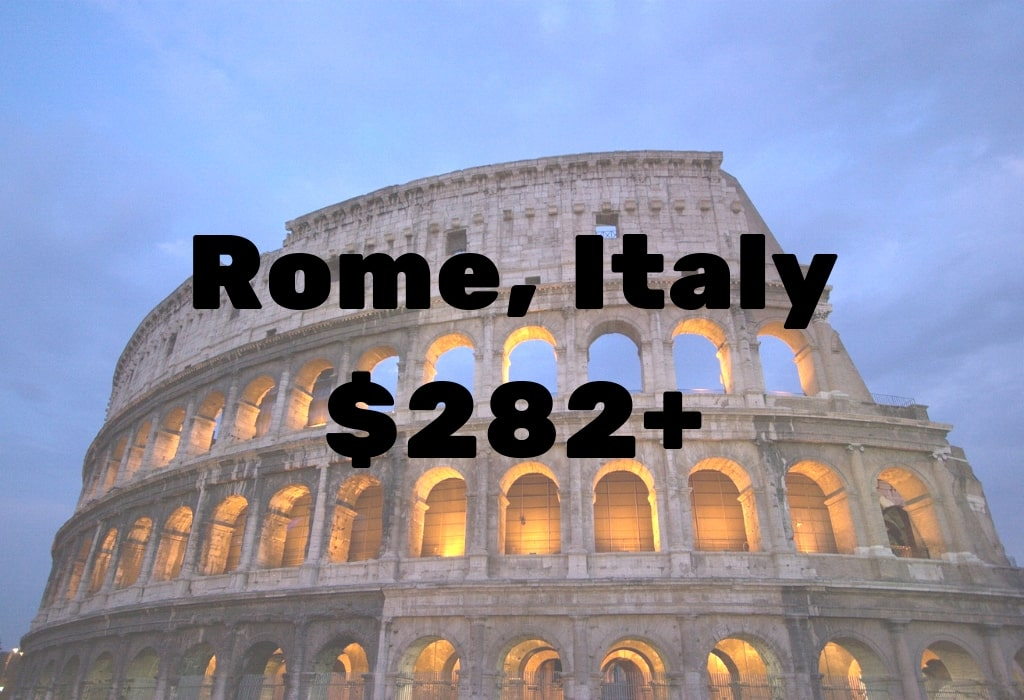 Image of deal to Rome for $282