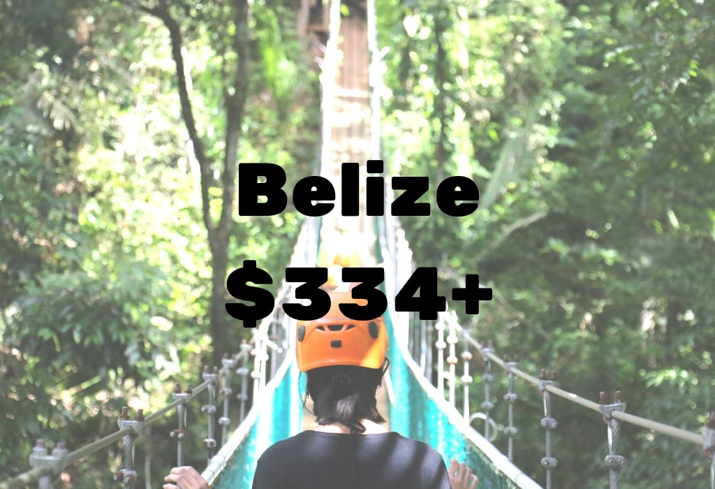 Image of deal to Belize for $334