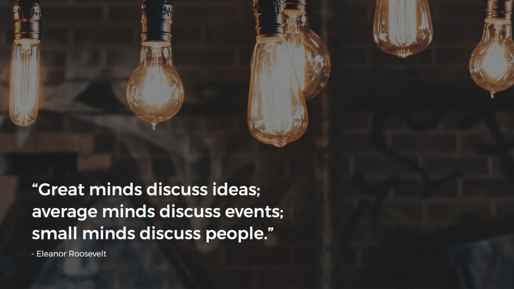 Background with quote about spreading ideas.