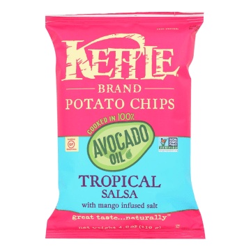 Tropical salsa kettle chips