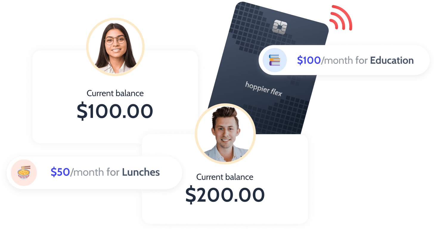 Credit card based stipends for any employee need