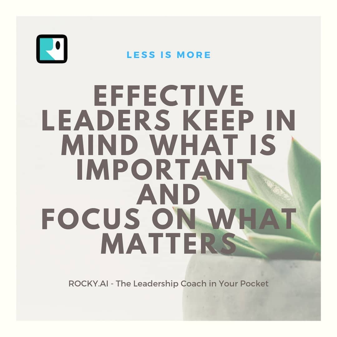 A leader understands daily priorities and is ditching unimportant things. How do you manage your important things?