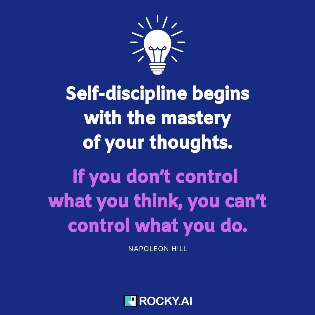 Discipline starts with taking control of your thoughts 🔝 How to control your thoughts when you feel overwhelmed or stressed:⁠ - Stop and take a deep breath.⁠ - Observe your thoughts without judgment.⁠ - Temporarily divert your thoughts with another activity and come back to the topic.⁠