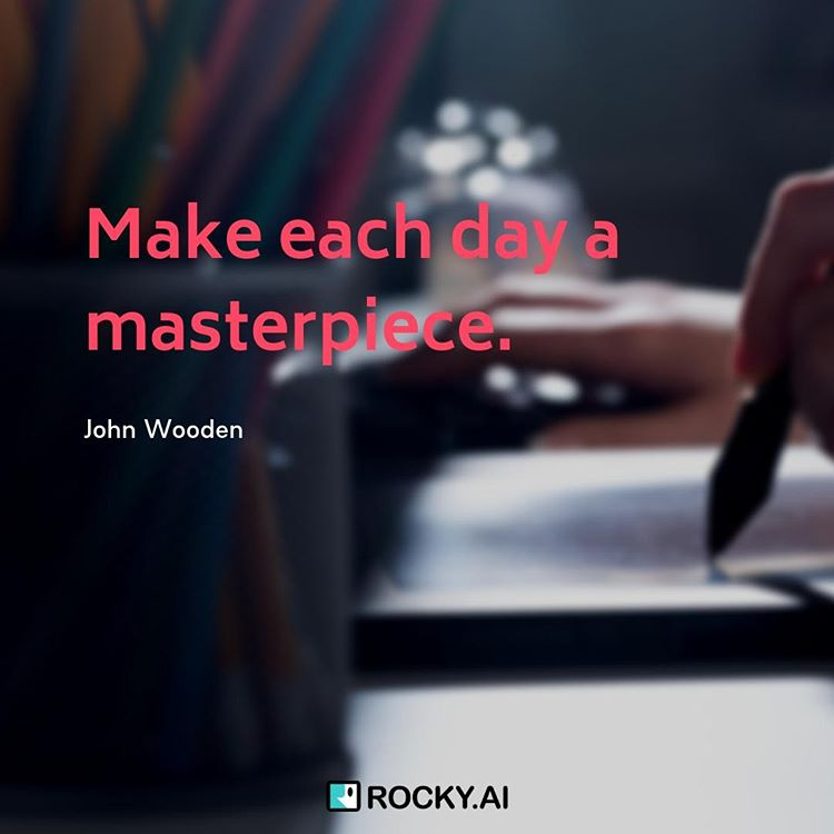 Make each day a masterpiece. #masterpiece тБа