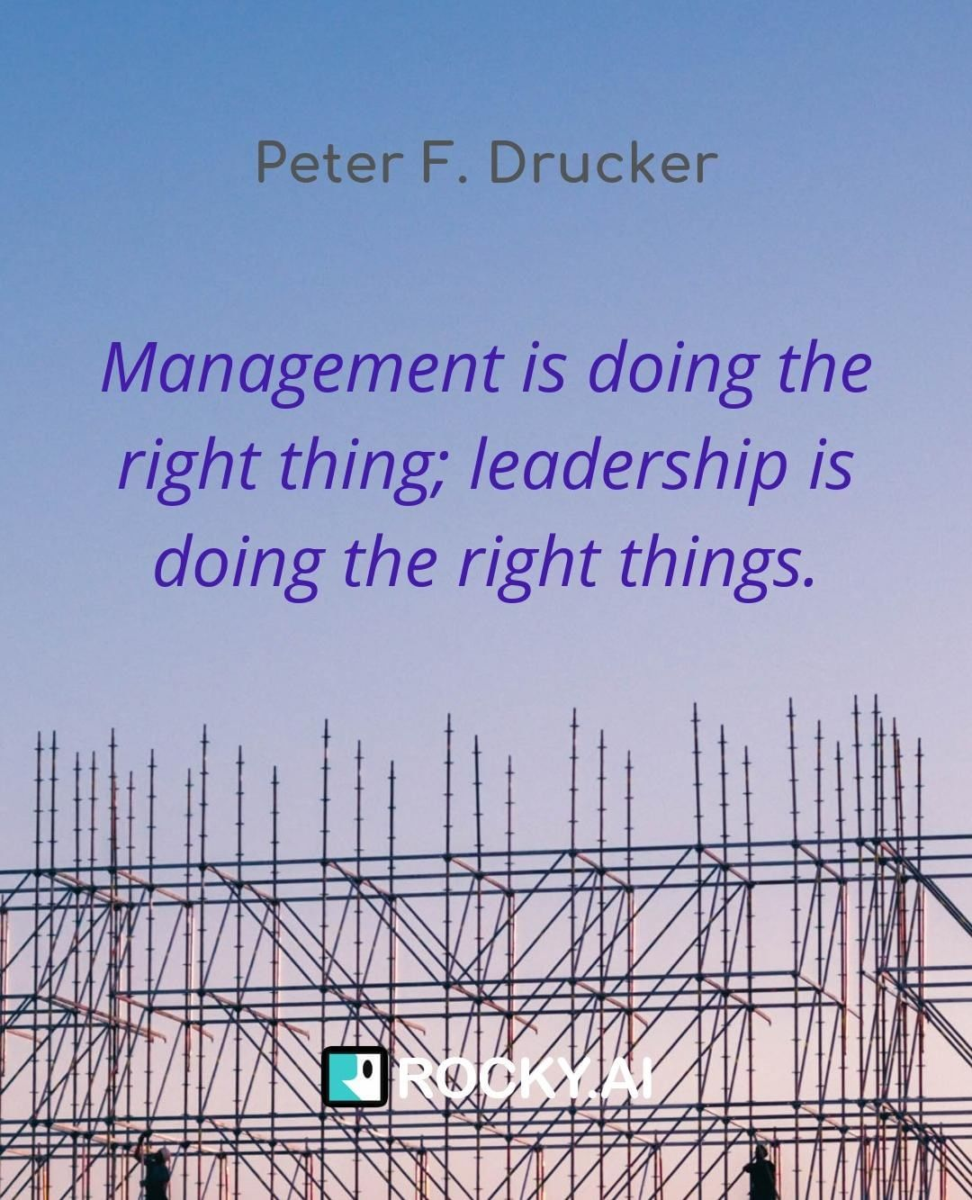 Leadership is about doing many things right.⠀ What is you leadership about?⠀