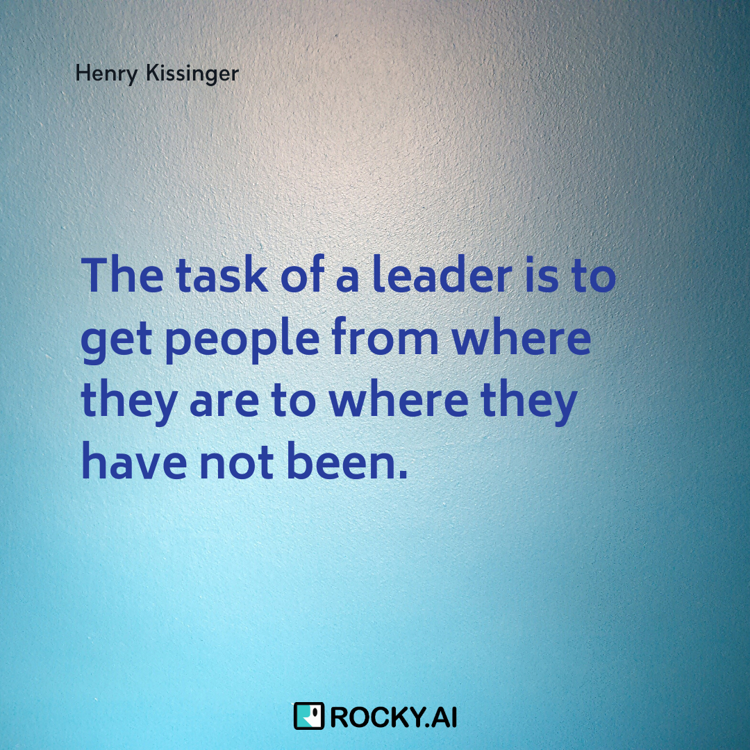 I will help my colleagues to grow and develop themselves, #HenryKissinger