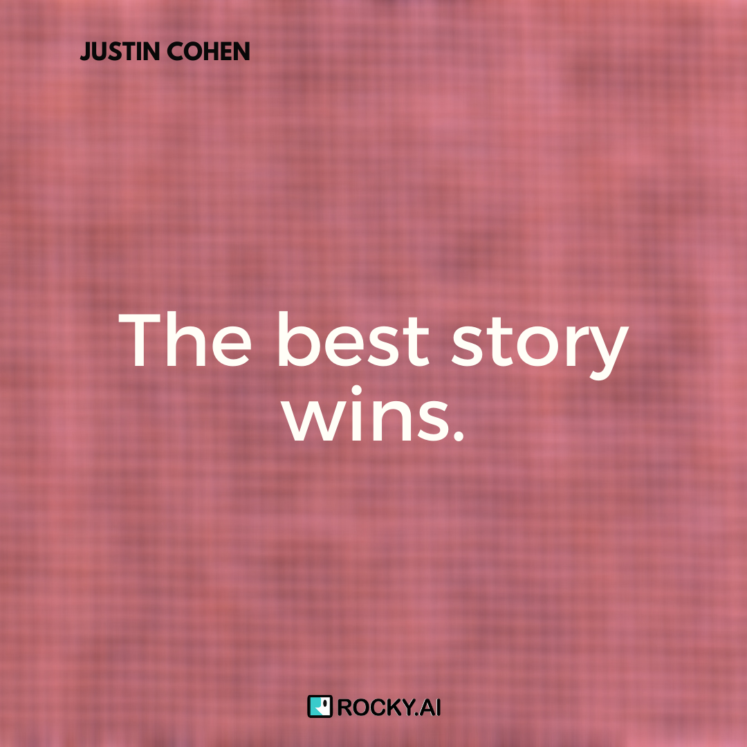 I will deliver my main points with good stories to support them, #JUSTINCOHEN