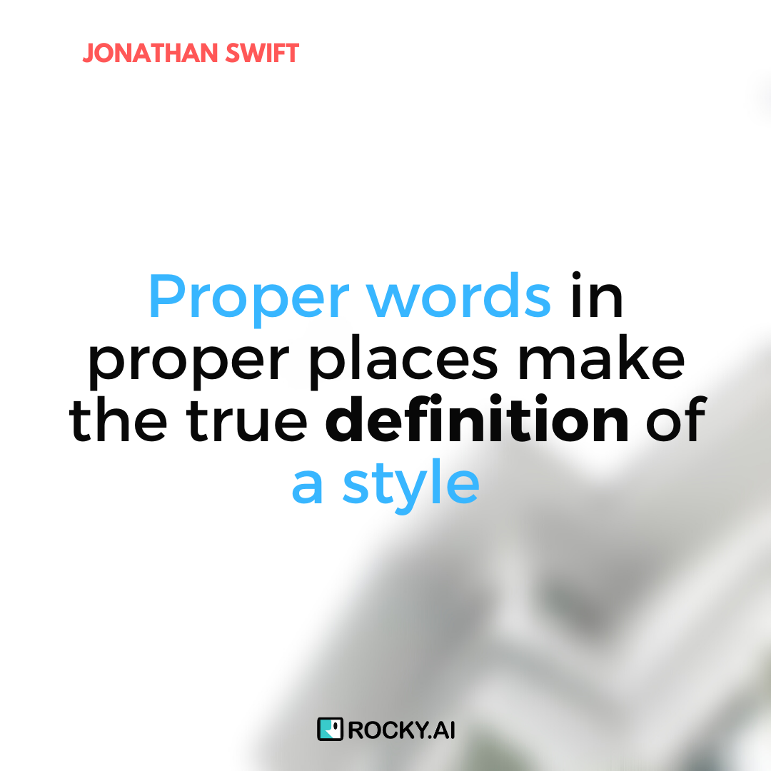 I will practice my articulation skills and prepare for important meetings, #JonathanSwift