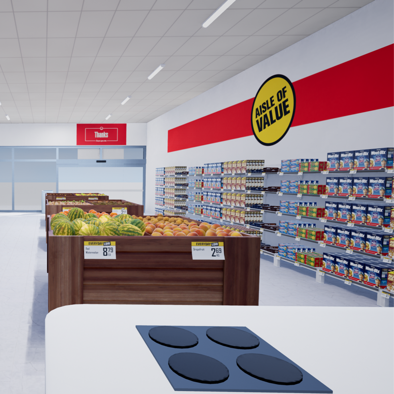 Supermarket VR demo