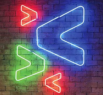 Imagem: Luzes de neon com símbolo da Zup