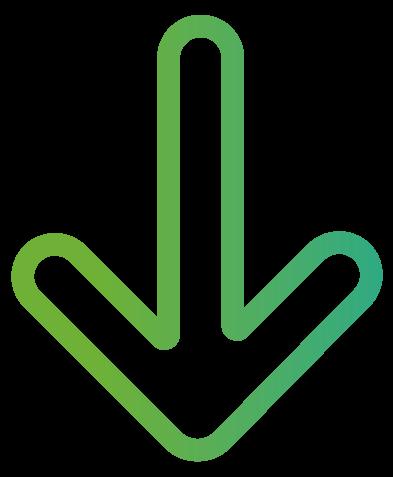 ícone de seta apontando para baixo