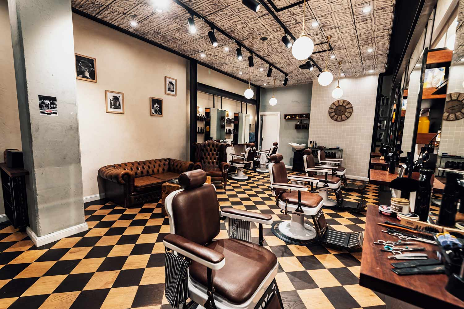 Barber Industries - Traditional Barbershop Interior