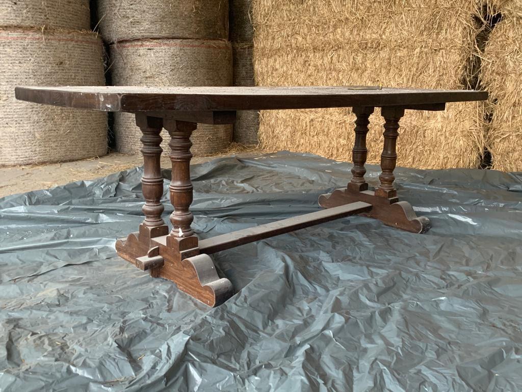 Sablage d'une table en bois massif 2/2