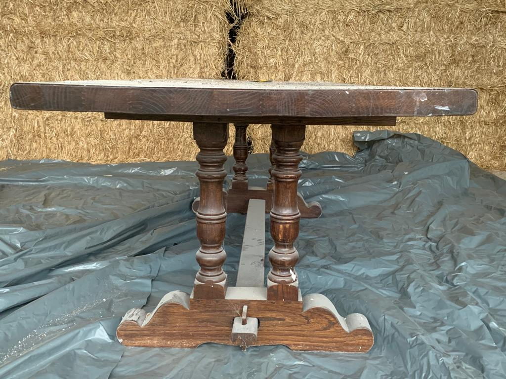 Sablage d'une table en bois massif 1/2