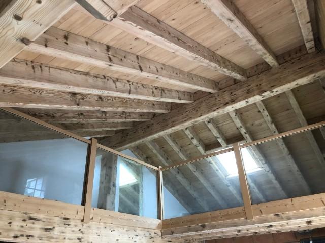 Sablage bois poutres et plafond