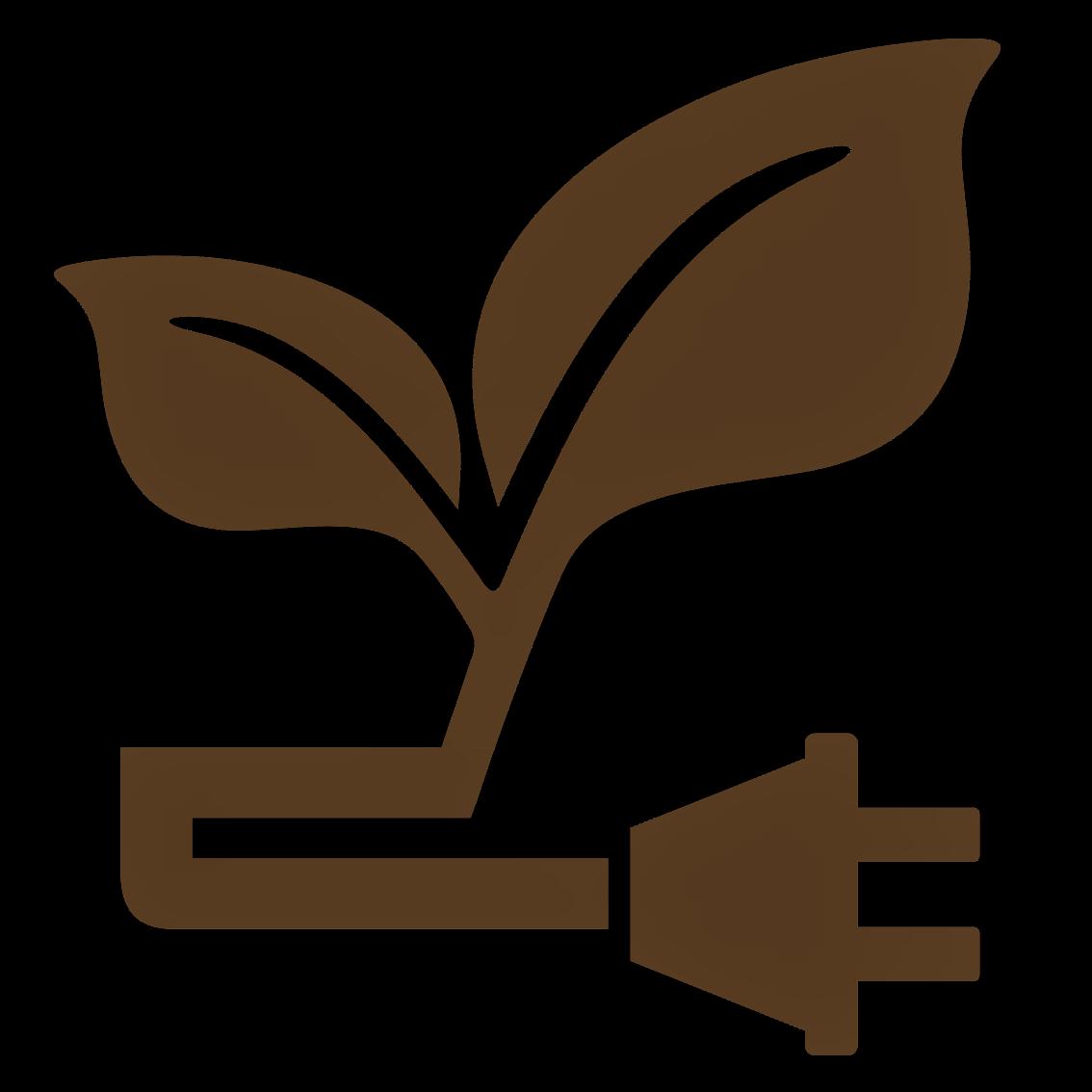 Leaf Icon Watermark