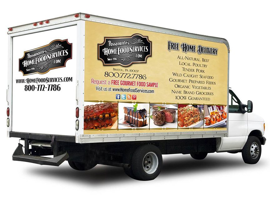 Passanante's Home Food Service delivery truck