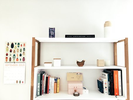 Shelves in the middle of a wall