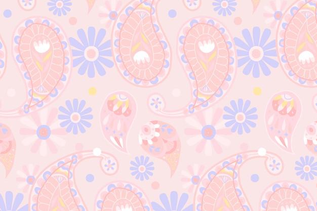 Painted Flower Wallpaper
