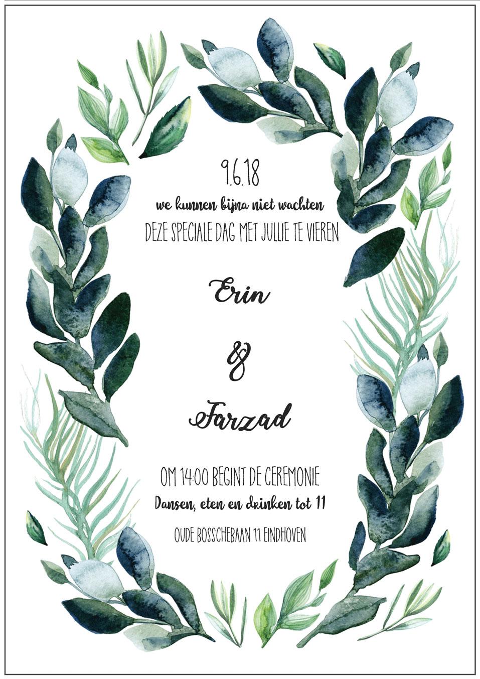 Scott Ruigrok - Freelance - wedding invite