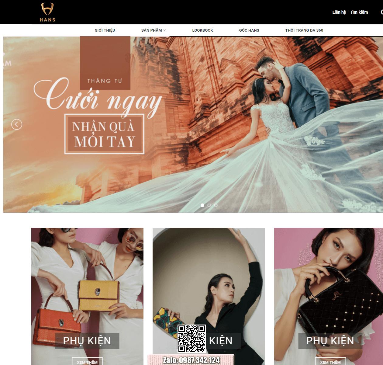 Mẫu web bán hàng thời trang thumbnail