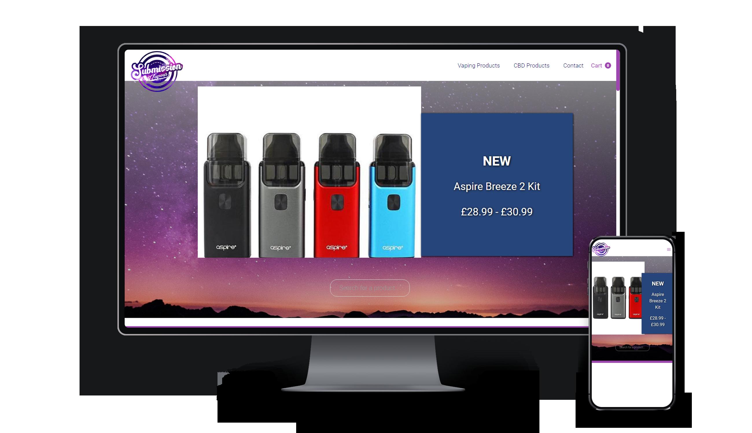 submission vapour, vape shop based in ashford kent, vape supplies, cbd supplier