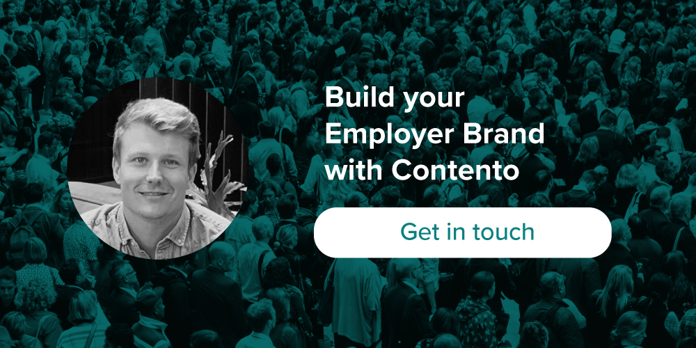 banner: build your employer brand with Contento