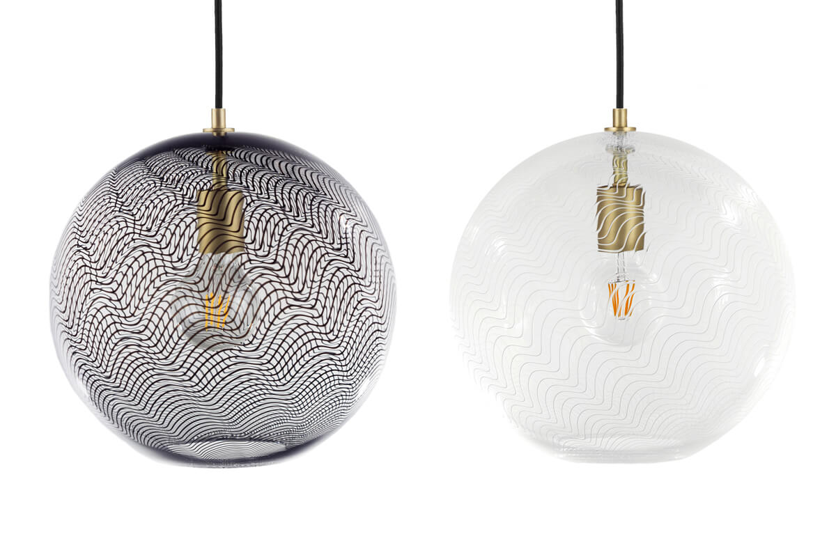KEEP Cane Globe Glass Pendant Lighting