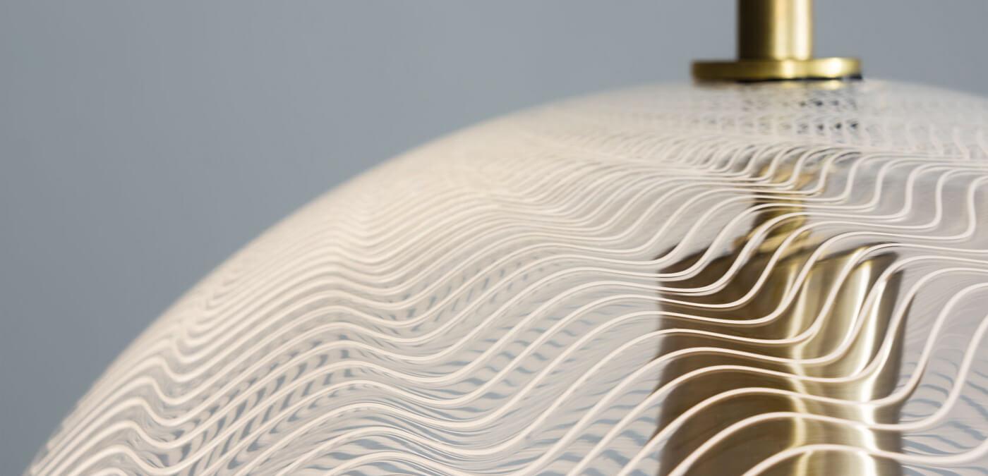 KEEP - CANE Globe Pearl Glass Pendant Light Detail