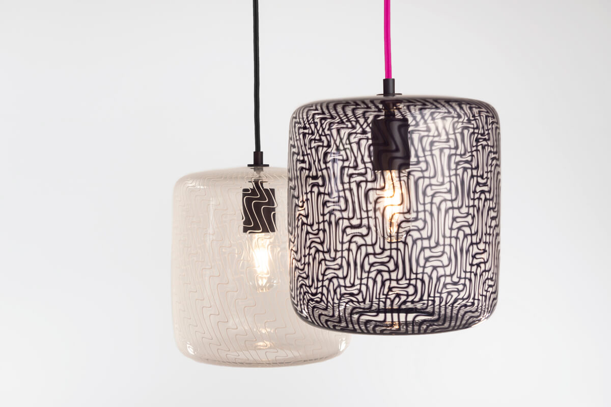 KEEP Cane Drum Glass Pendant Lighting