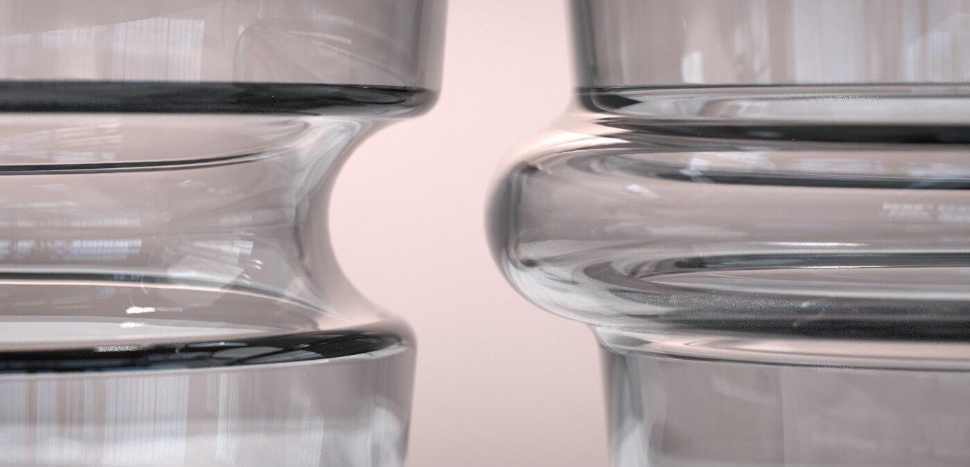 KEEP + Rydstedt - Cupples Slate Handblown Glassware