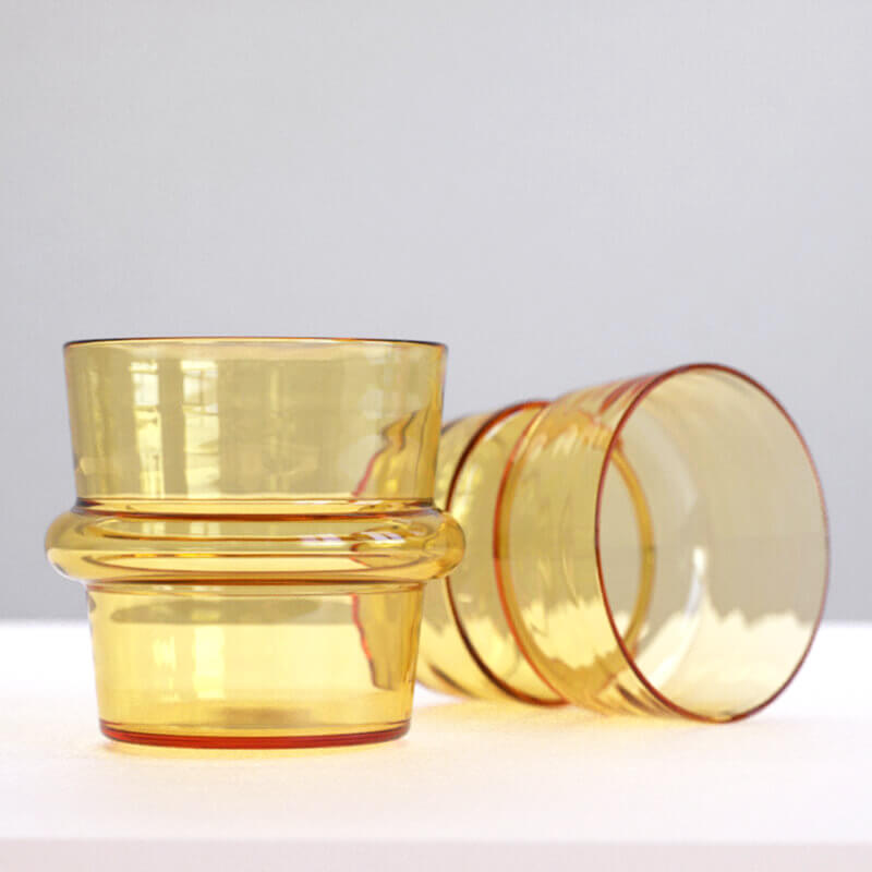 KEEP + Rydstedt Amber Cupple Hand Blown Glassware