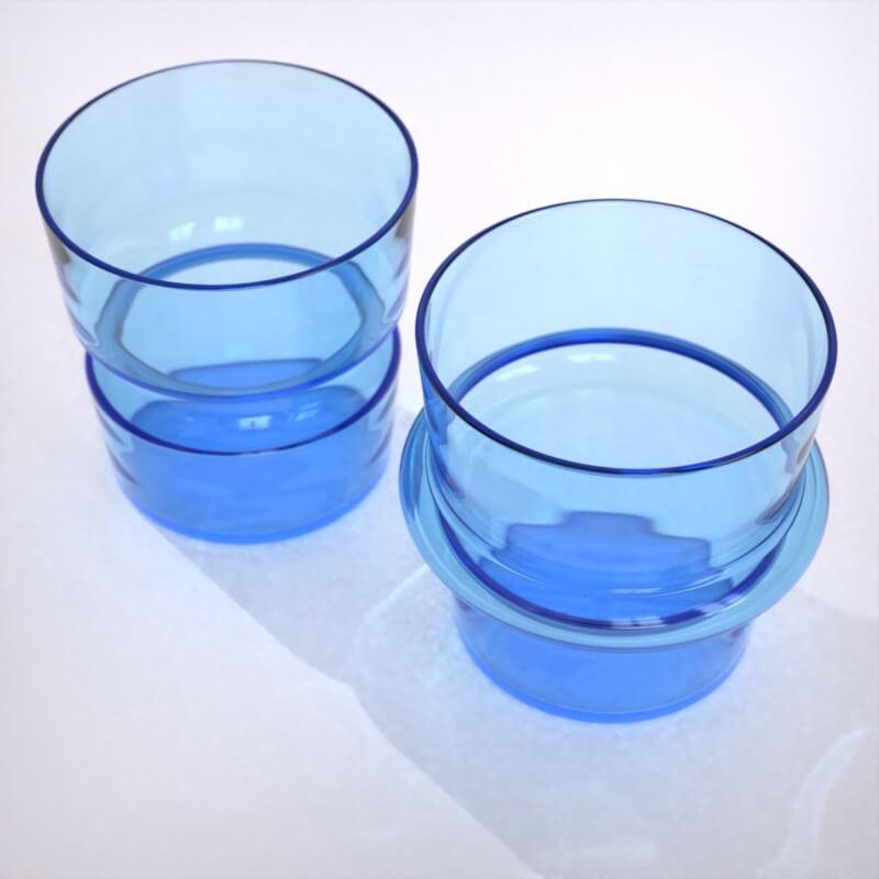 KEEP + Rydstedt Aqua Cupple Hand Blown Glassware