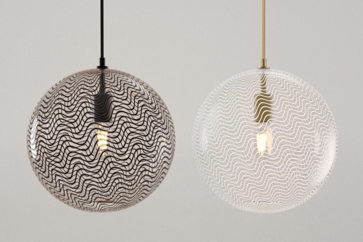 KEEP Cane Globe Glass Pendant Lighting
