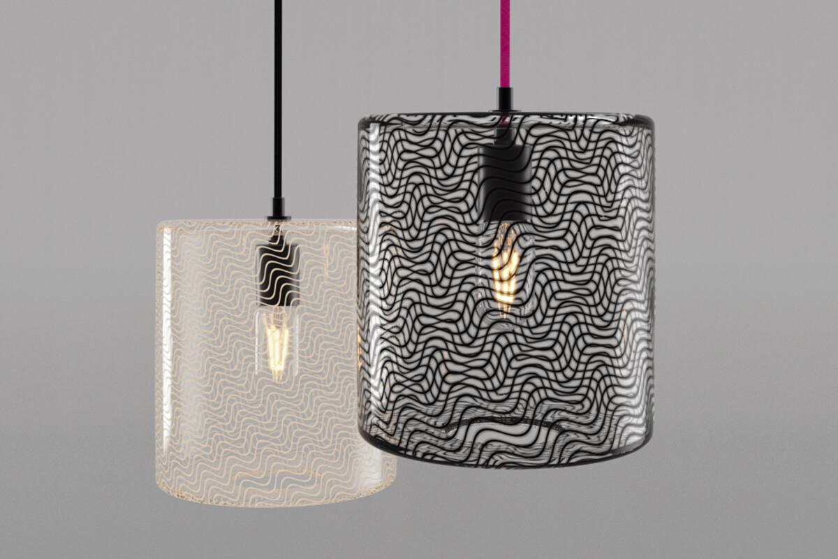 KEEP Cane Drum Glass Pendant Lighting