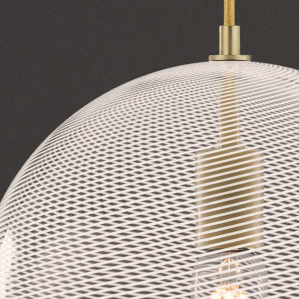 KEEP Cane Globe Pendant Light Pearl Track Pattern