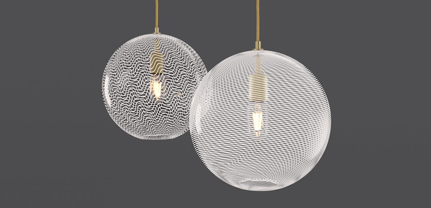 KEEP - CANE Globe Pearl Glass Pendant Lights