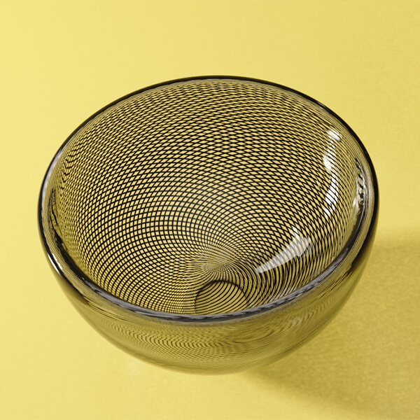 KEEP Zephyr Bowl Charcoal Track Pattern Small
