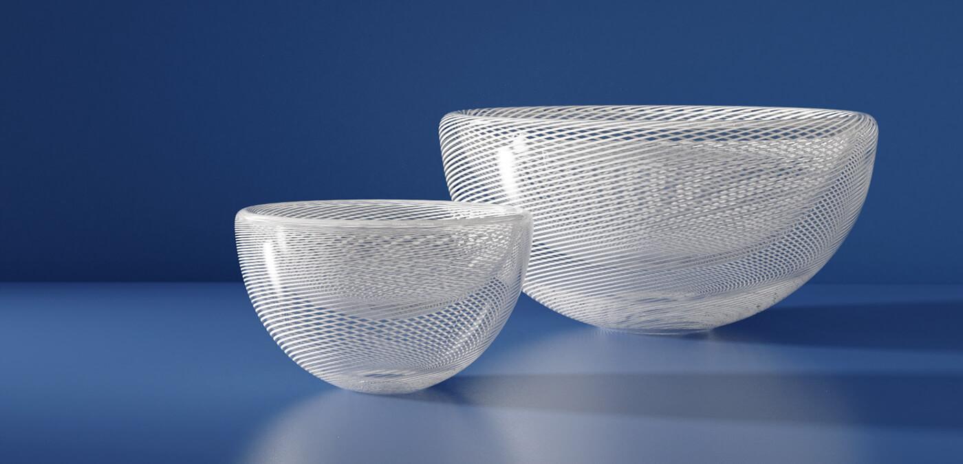 KEEP - ZEPHYR Handblown Glass Small Bowl