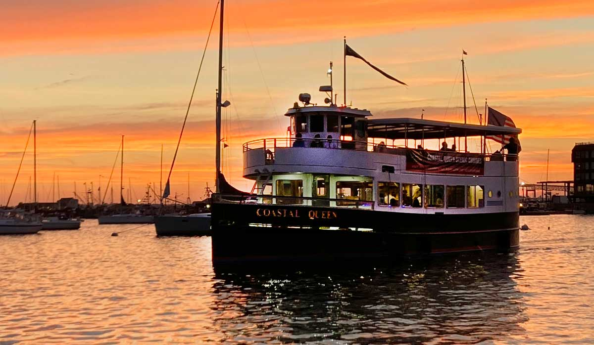 Coastal Queen Cruises - Sunset Cruises - Jamestown Newport Ferry