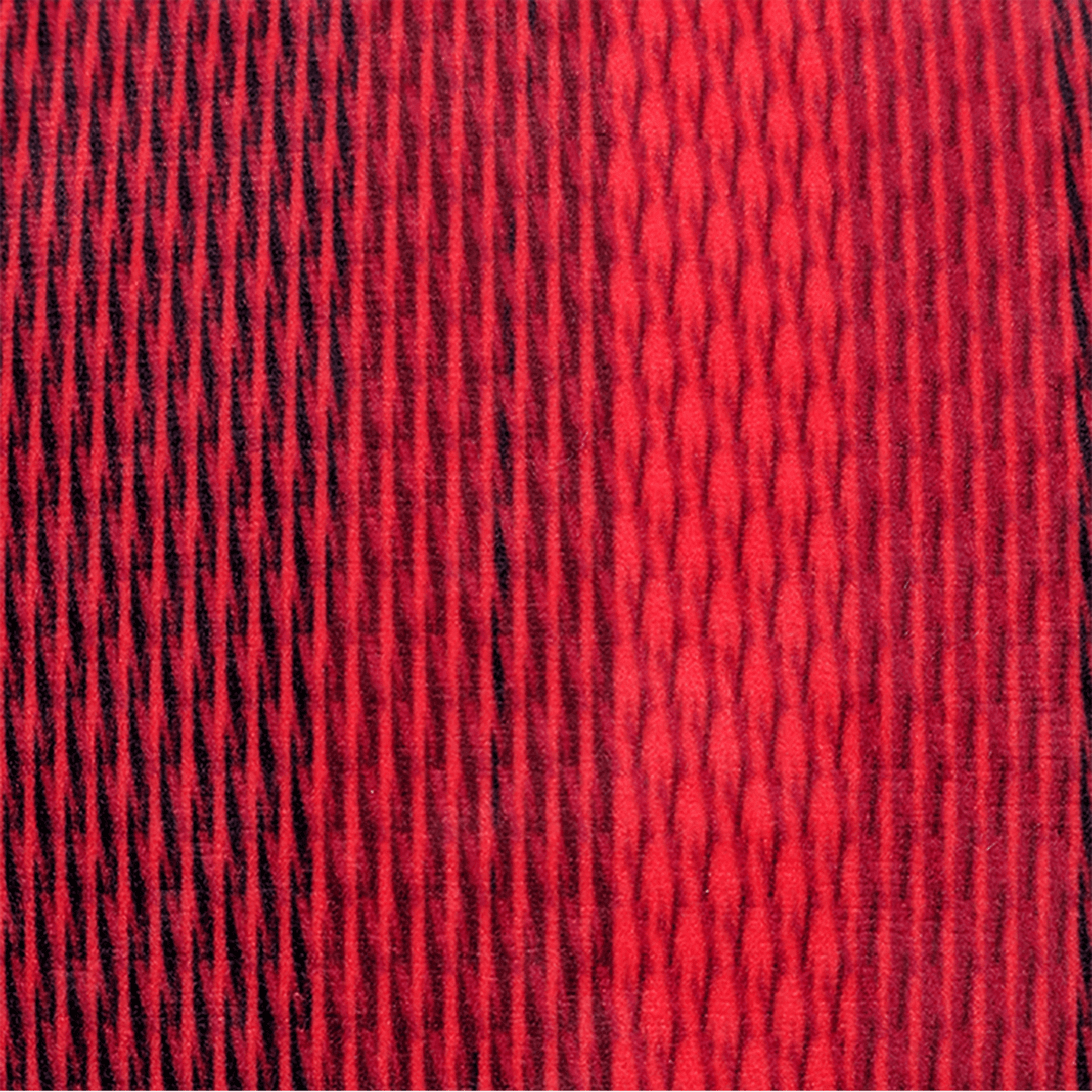 Fabric swatch for red faux suede throw pillow
