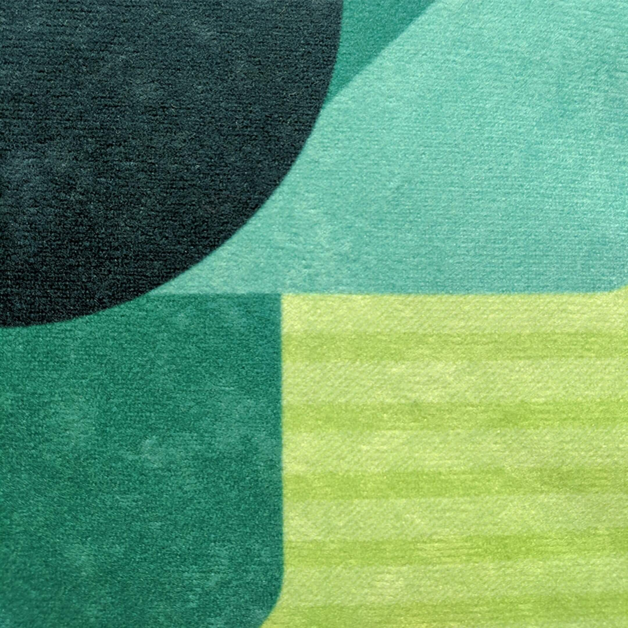 Fabric swatch for green faux suede throw pillow