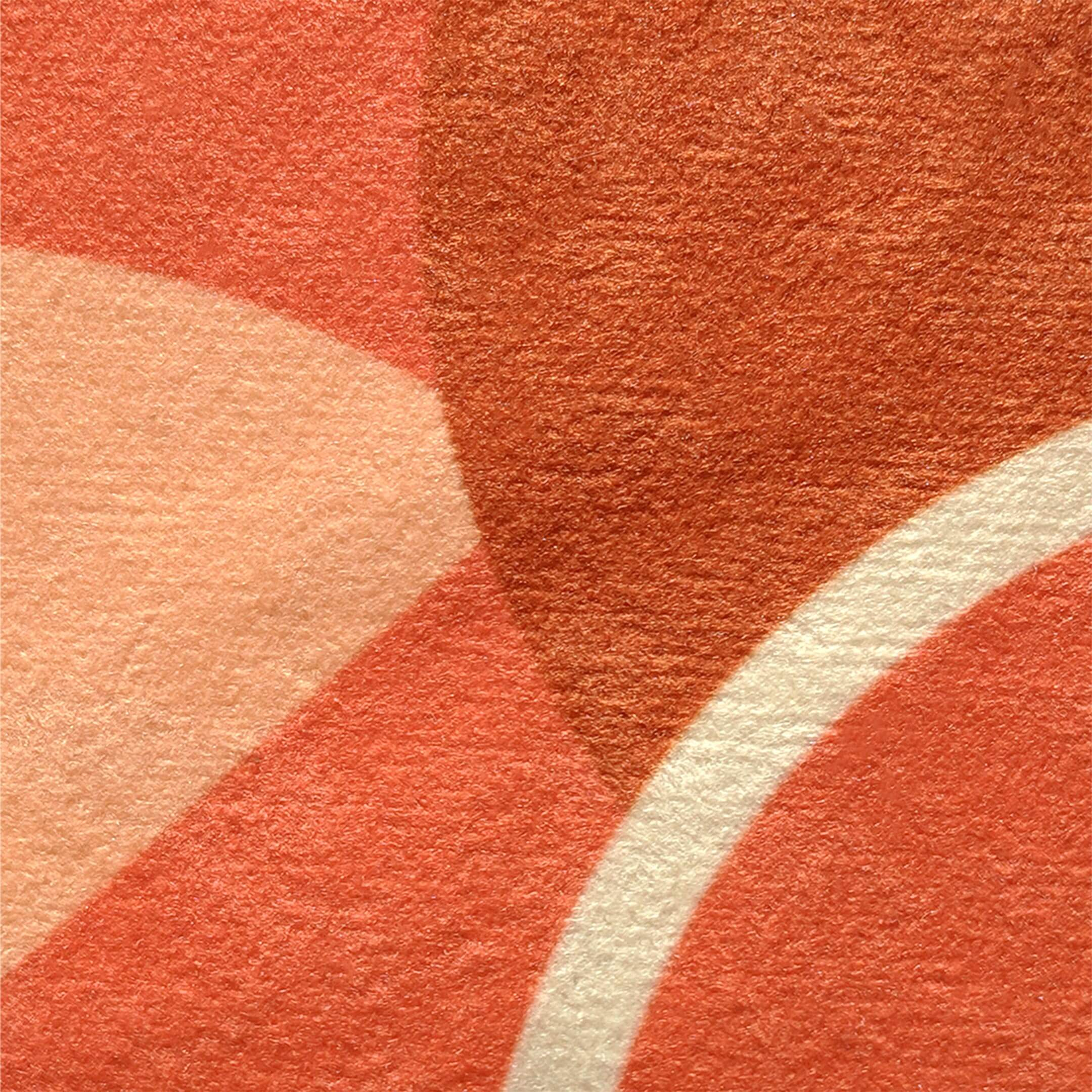 Fabric swatch for orange faux suede throw pillow