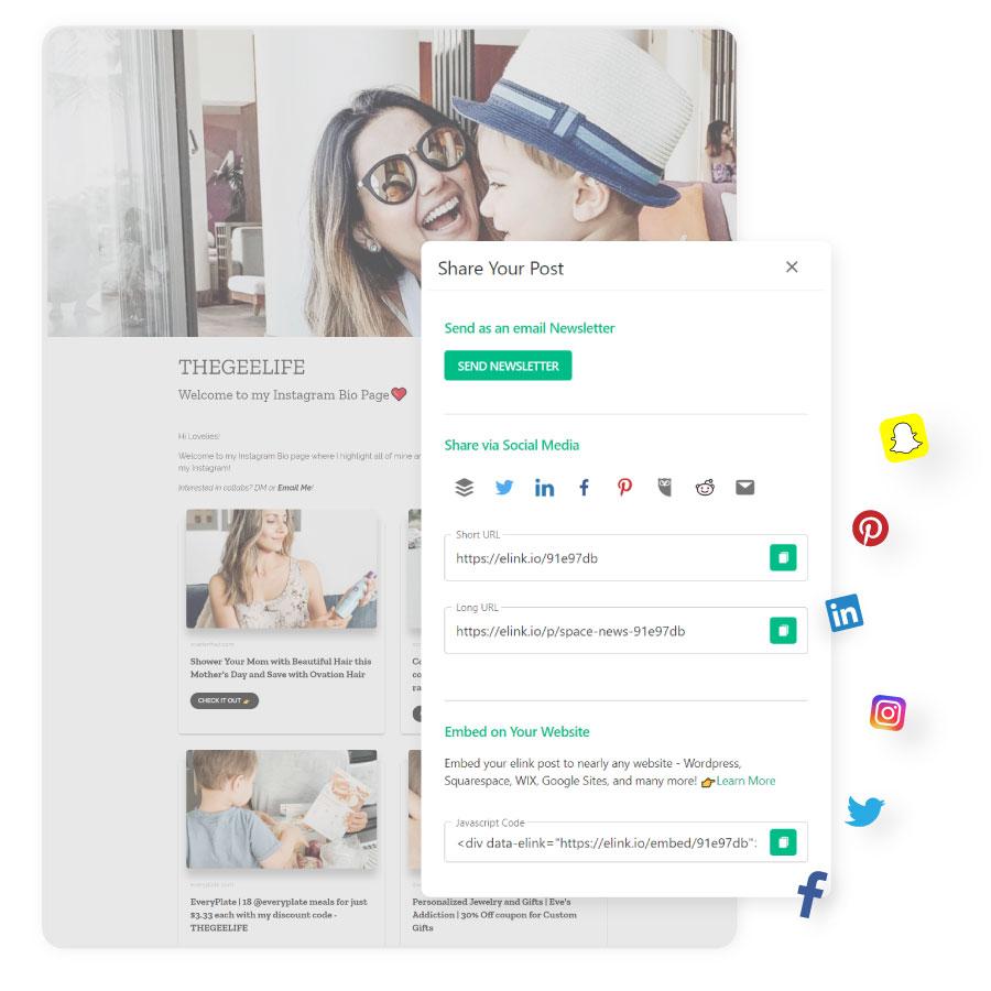 Social Media Bio Link