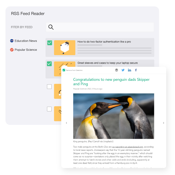Read and Curate From Rss Feeds