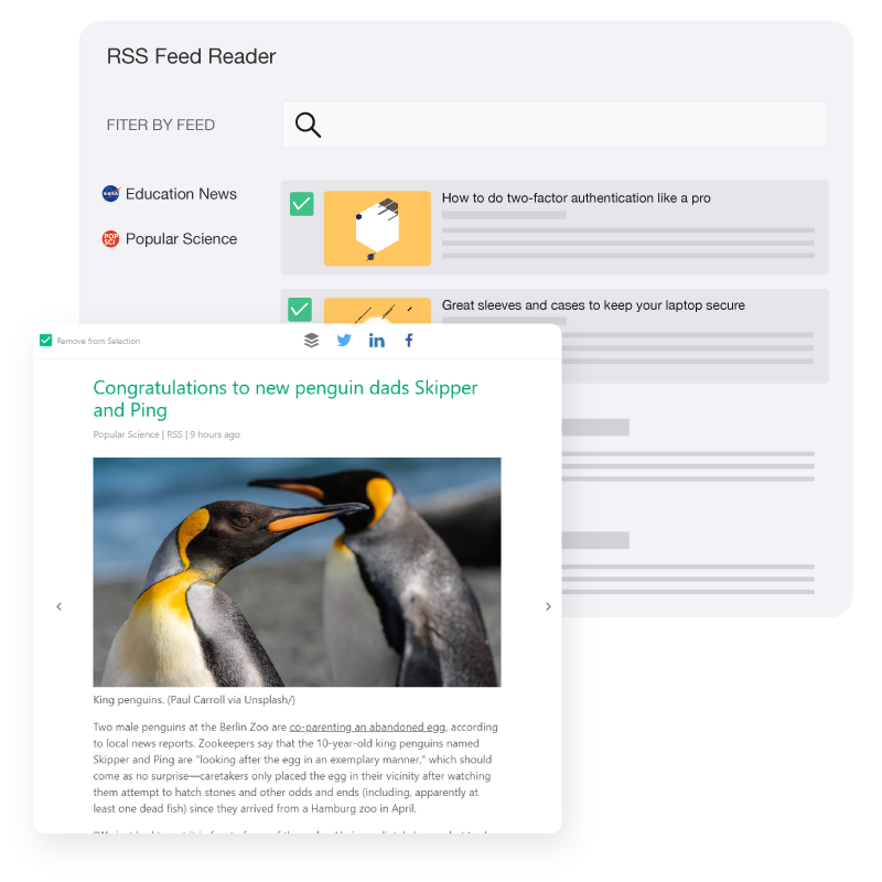 Elink Rss Feed Reader
