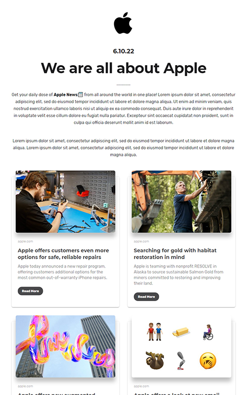Preview of a employee newsletters template