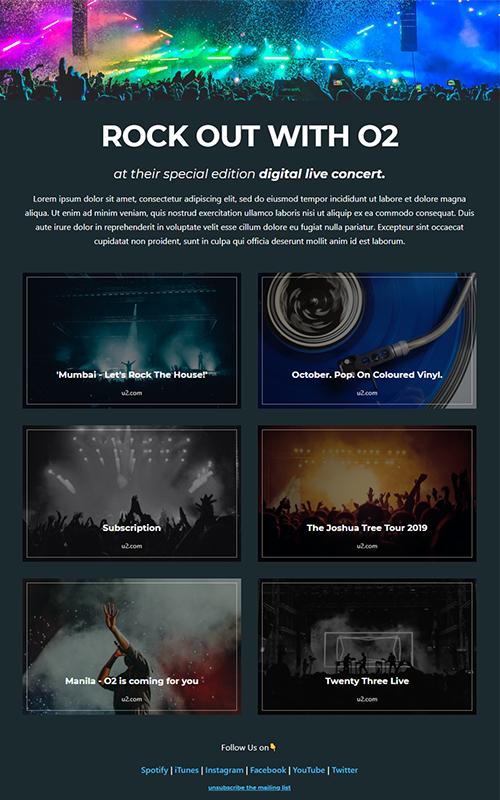 Preview of a musician insta bio link influencer template